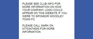 Sponsor Woodley Town FC
