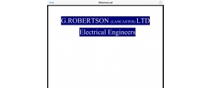 G Robertson Ltd Electrical Engineers
