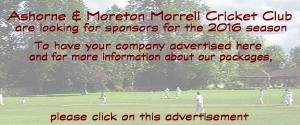 Ashorne and Moreton Morrell needs Sponsors