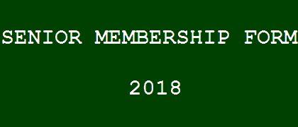 Senior Membership Form 2018
