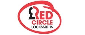 Red Circle Lock & Key