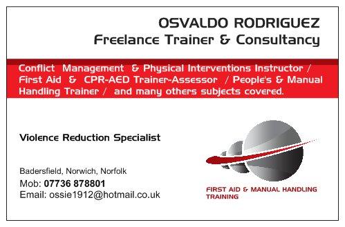Osvaldo Rodriguez - Freelance trainer & consultancy