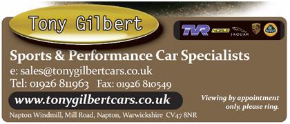 Tony Gilbert Cars