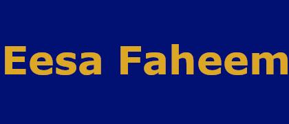 Eesa Faheem
