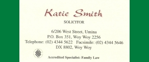 Katie Smith.   Solicitor