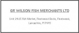 GR Wilson Fish Merchants Ltd