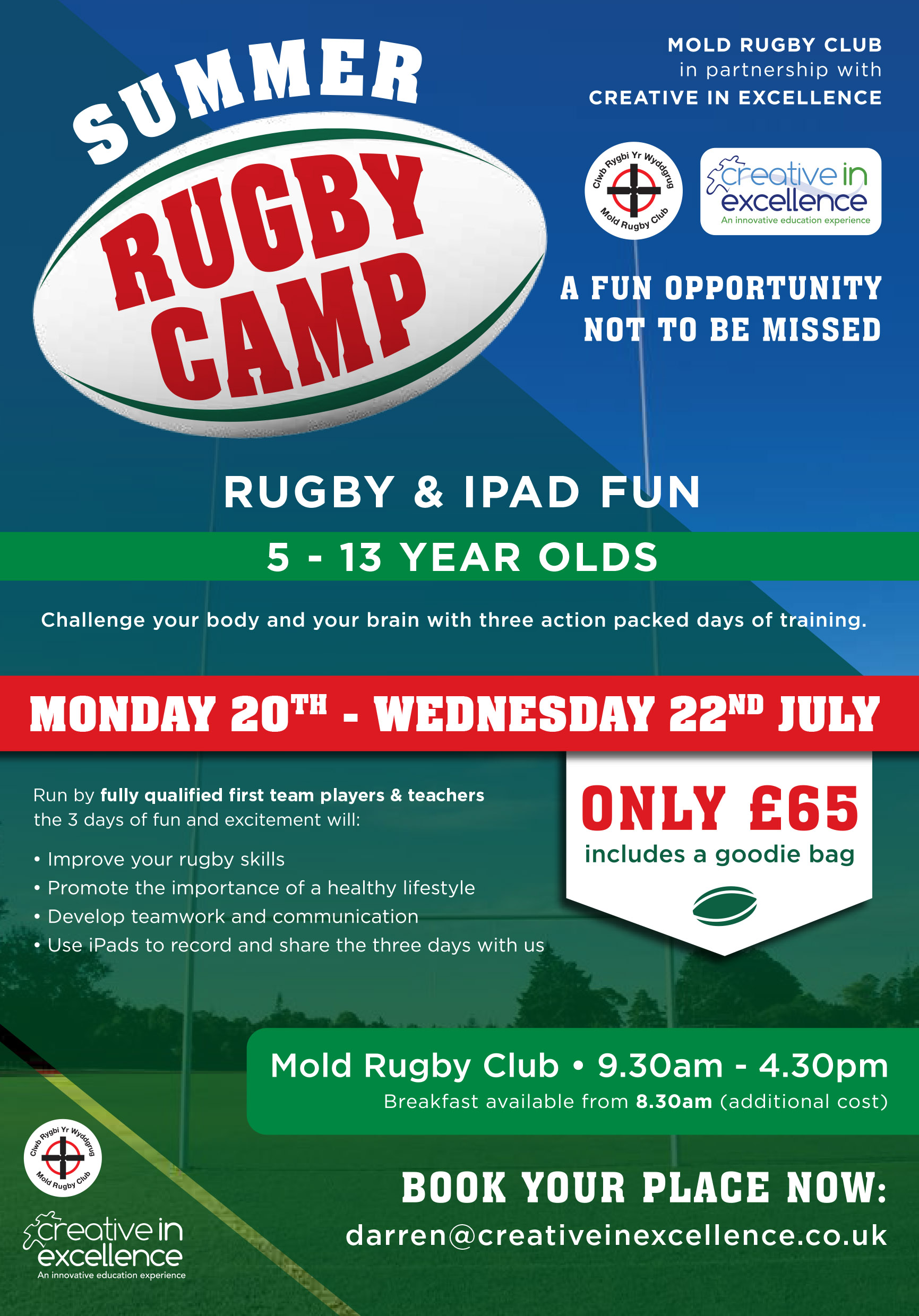 north wales ruc news rugby summer camp to be held at. Black Bedroom Furniture Sets. Home Design Ideas