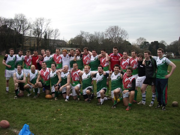 Magpies represent Wales against the Irish image