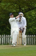 Crocker gets his maiden century but Flitwick hang on for the draw