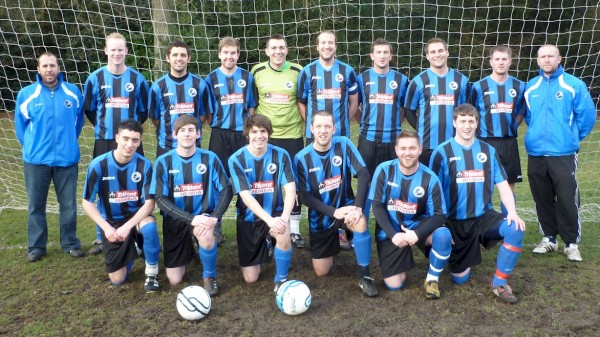 Back Row: Kev Adcock, Mark Nye, James Taylor, Matt Lees, Richard Garland, Antony Bromhead,
