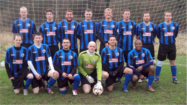 Back Row: Mark Nye, Matt Hewitson, Ray Duke, Ben Searle, Martin Smith, Karl Duddridge,