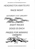 Saturday 21st January - Race Night image