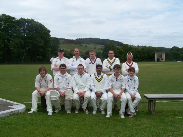Back Row - Tom Gill, Simon Webster (Vice Captain), Steve Butterfield (Captain), Neil Kennedy, Steve Tempest