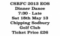2013 Dinner Dance Ticket