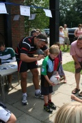 PETERSFIELD RFC Annual Mini Rugby Workshop 10th-12th August 2012 Nick Easter Drops In On Sunday image