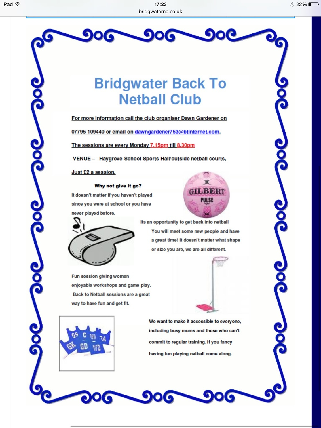Information About >> Information - Bridgwater Netball Club
