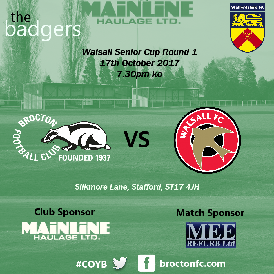 Walsall Senior Cup | Brocton 2 Walsall 3