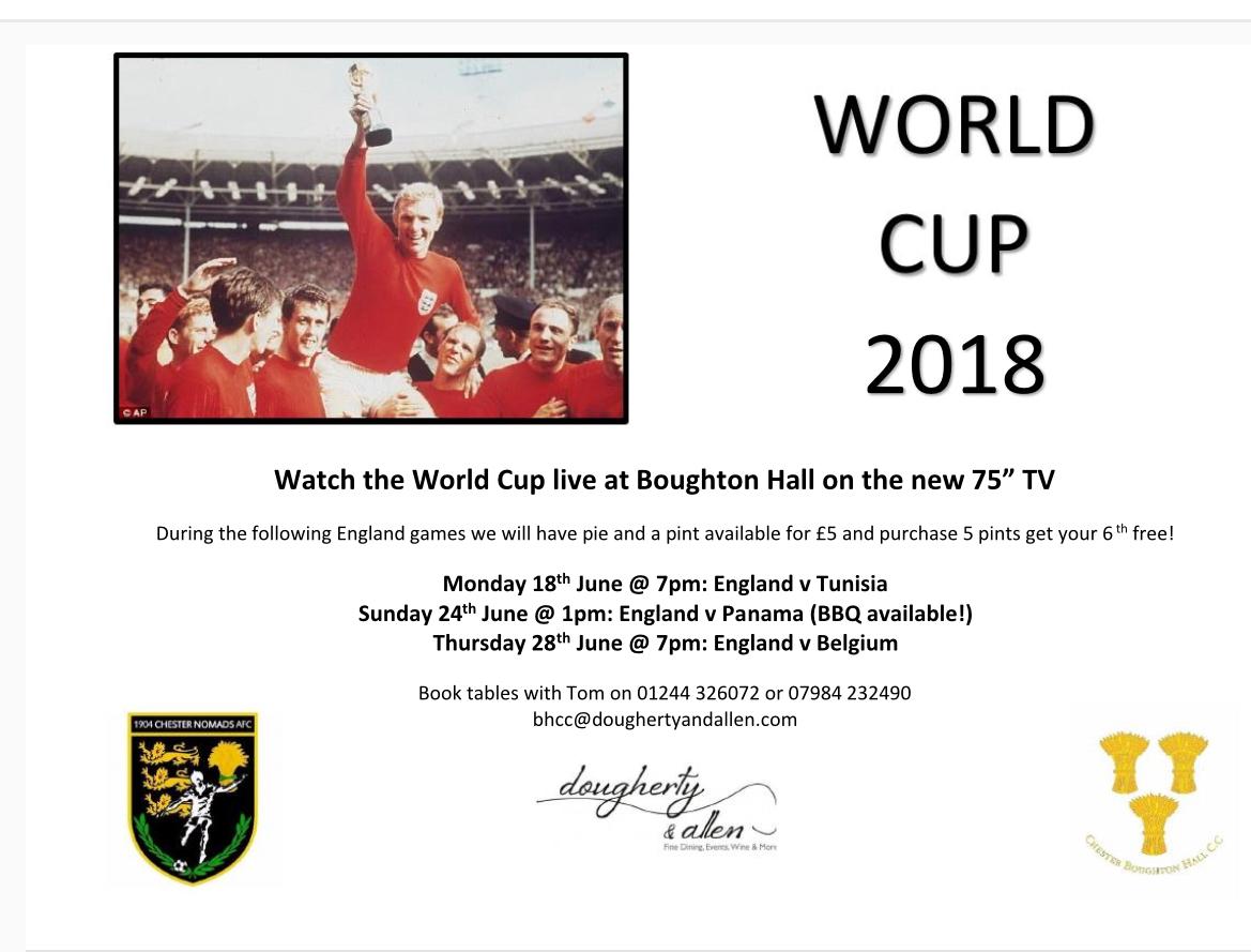 World Cup: England v Tunisia - Chester Boughton Hall Cricket Club