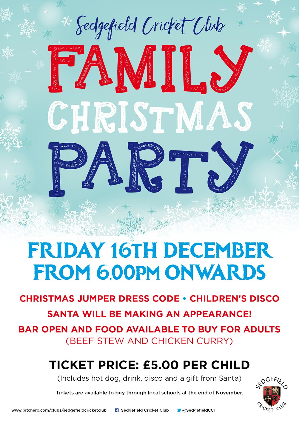 Family Xmas Party - Sedgefield CC