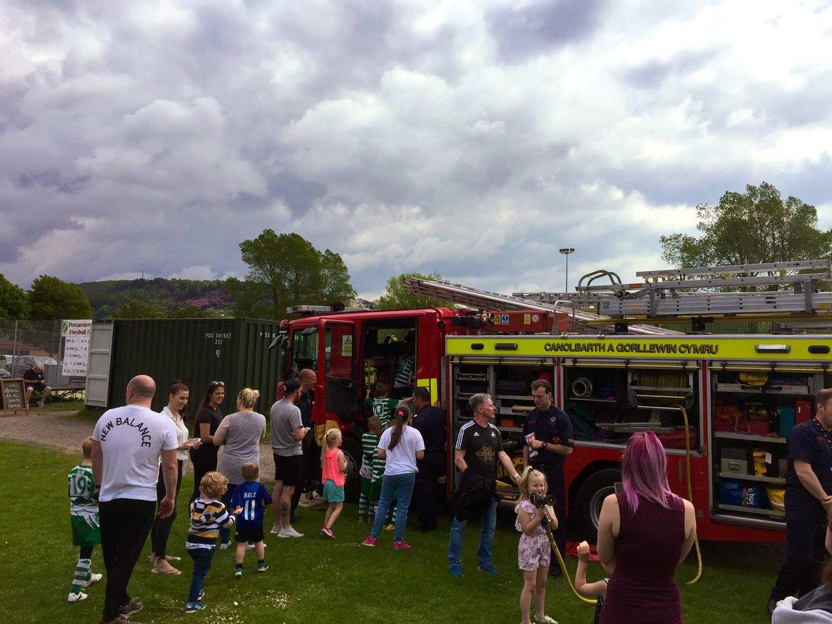 Saturday - Pontardawe Fire Brigade having a great time