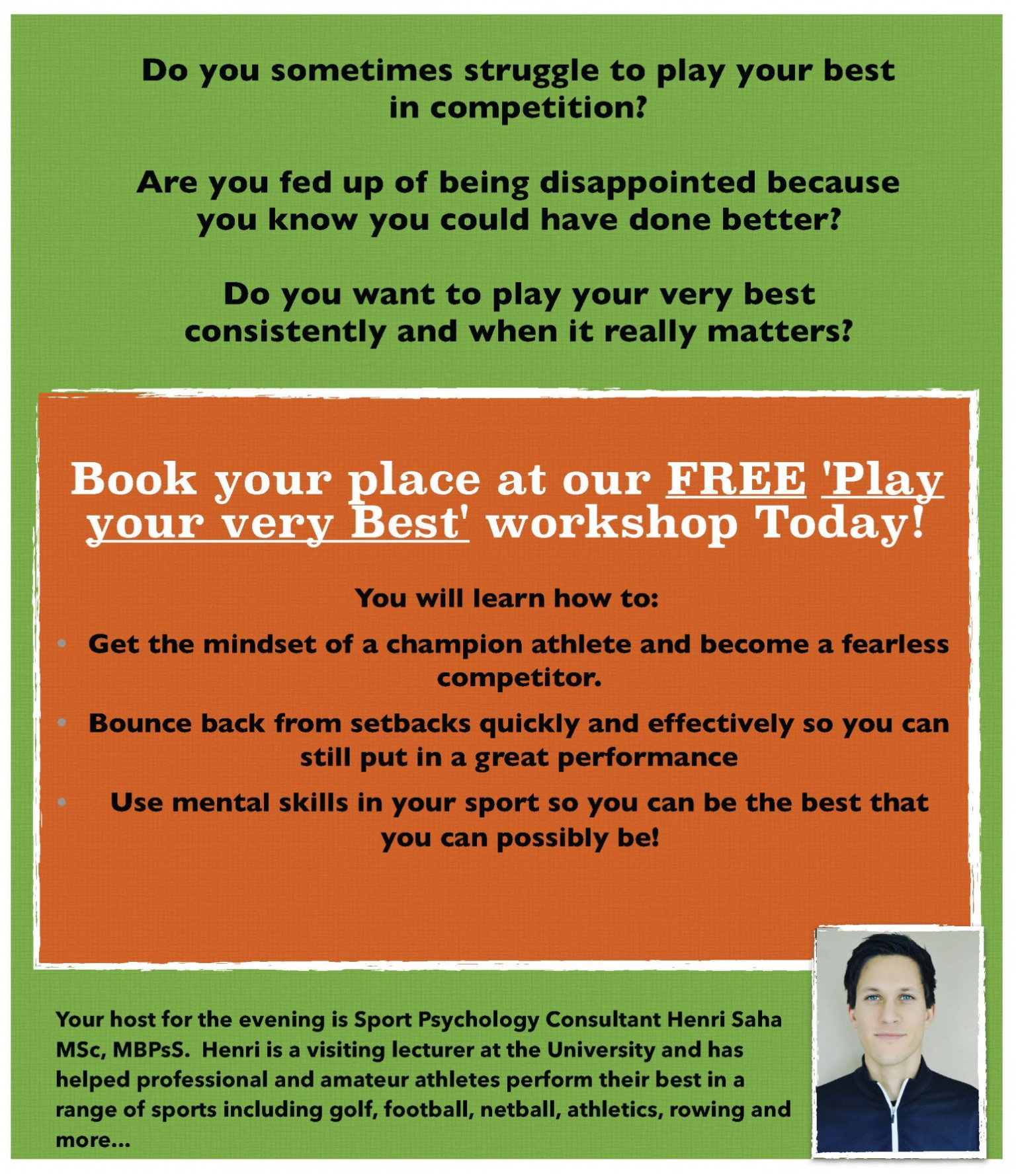 herts sports partnership events play your very best workshop you will learn how to