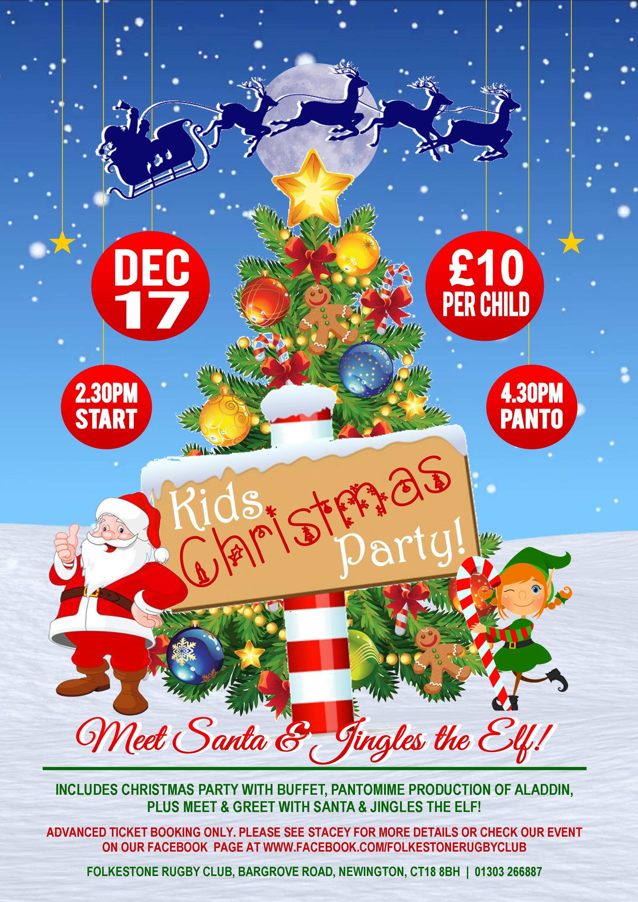 Children\'s Christmas Party & Pantomime - Folkestone Rugby Club