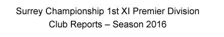 1st XI Premier Division