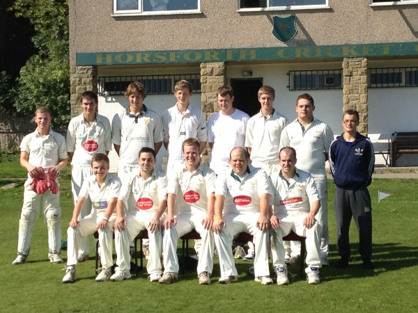 Back Row (L to R) Thomas Monks Jr, Nick Taylor, Matthew Stephens, James Brennan, Peter Lawrence, Alex Myers, Ben Wainwright, Danny Taylor (Scorer)