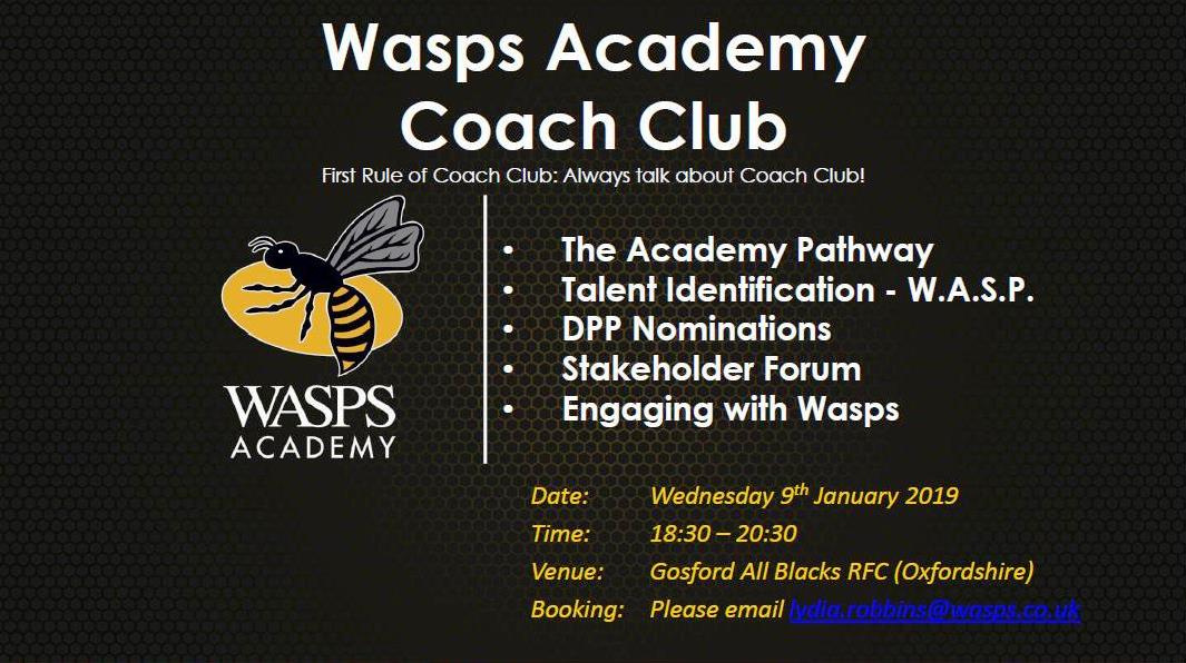 Oxfordshire RFU - Events - Wasps Stakeholder Forum at Gosford All