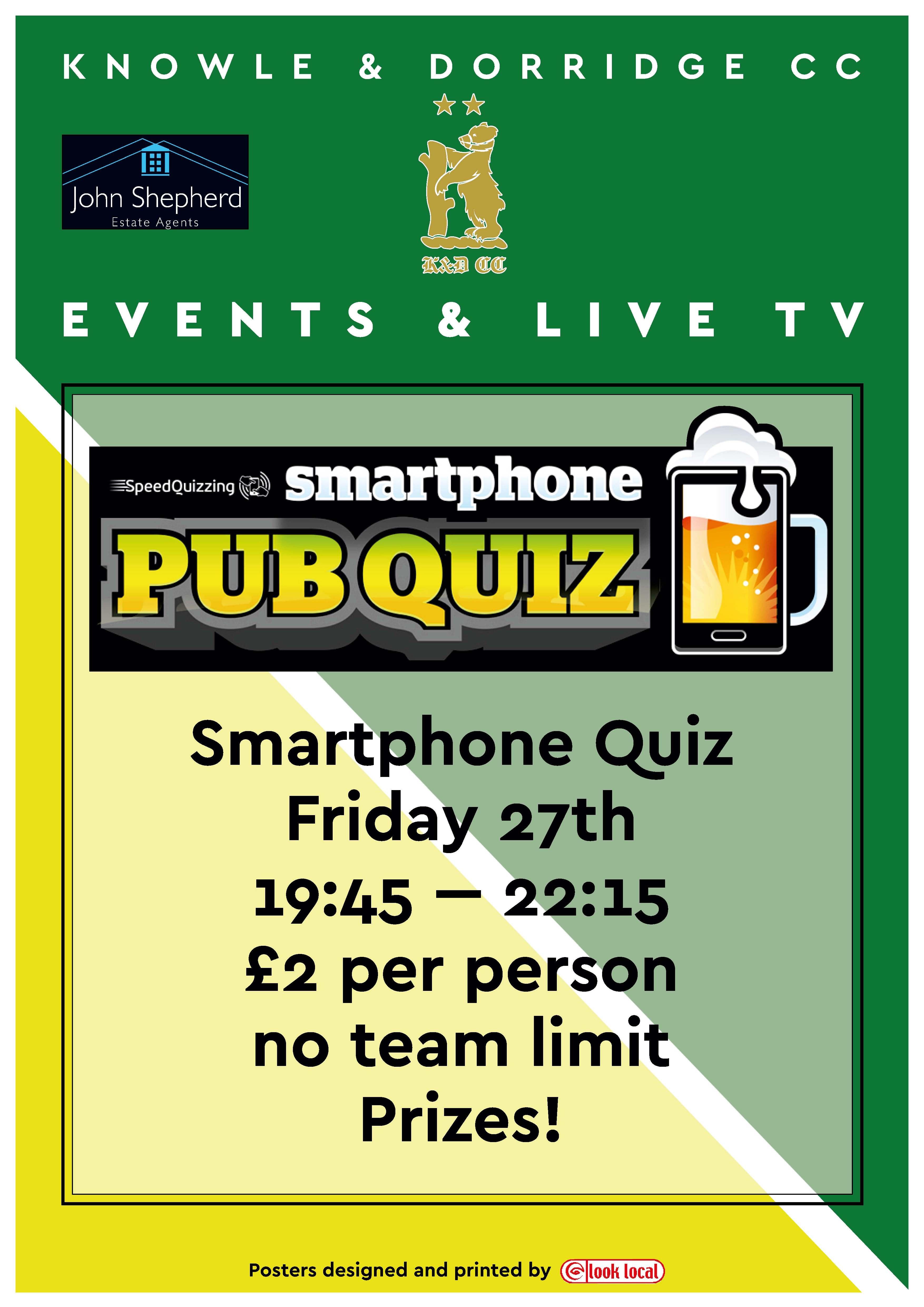 Smartphone Quiz - Knowle & Dorridge Cricket Club