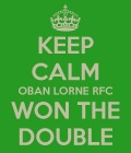 Oban Lorne Win The Double!