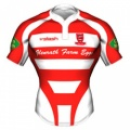 Peebles RFC Mens Home Rugby Shirt 2011-12