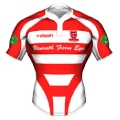 Peebles RFC Kids Home Rugby Shirt 2011-12