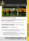 Maidstone United Ladies Trials image