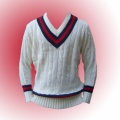Traditional knitted acrylic cricket jumper - long Sleeve.