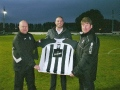 Brigg toast new sponsors with a pint of Carling!
