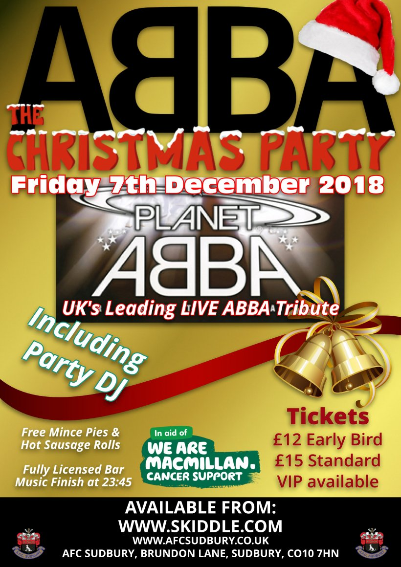 ABBA - The Christmas Party - AFC Sudbury