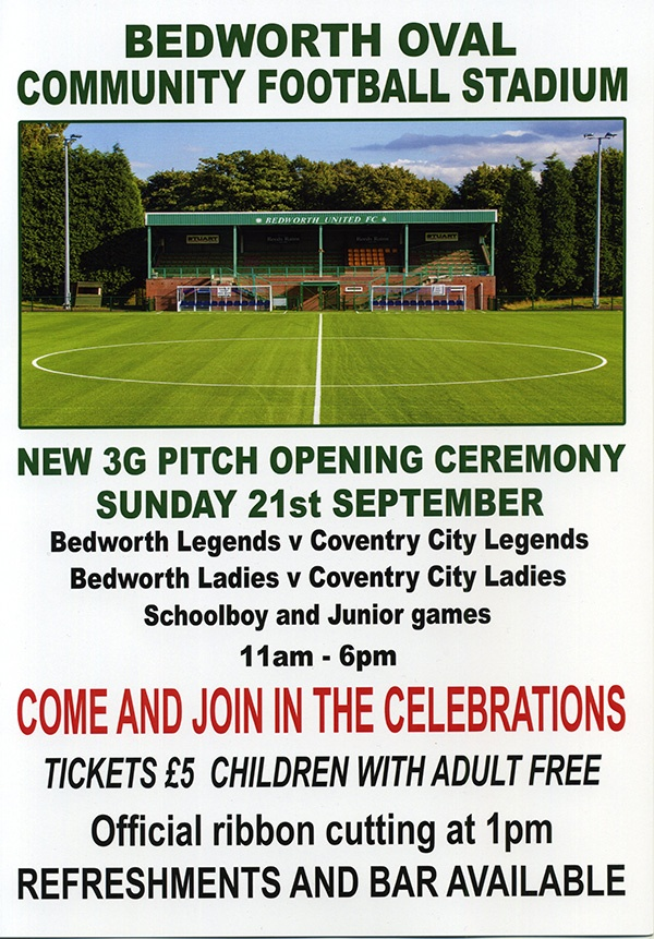 3G Pitch opening ceremony