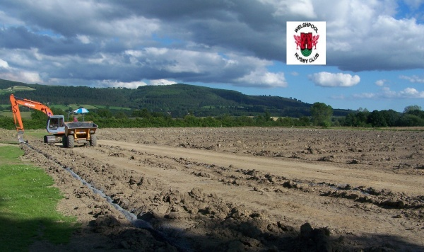Summer sunshine allows work to progress on Welshpool's two new pitches image