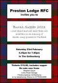 Burns Supper - Get Your Tickets NOW! image