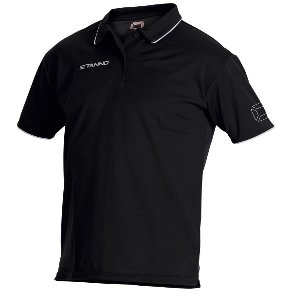 Image: Stanno Climatec Black Polo Shirt (Adult)