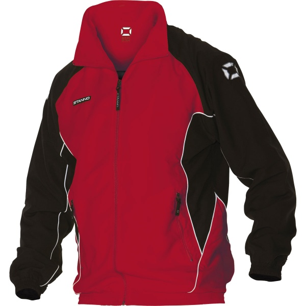 Image: Stanno Porto Track Suit Top (Red/Black)