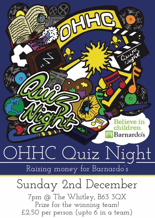 OHHC Quiz Night! - Old Halesonians HC