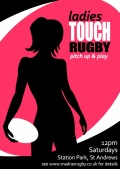 Ladies Casual Touch Rugby - pitch up & play image