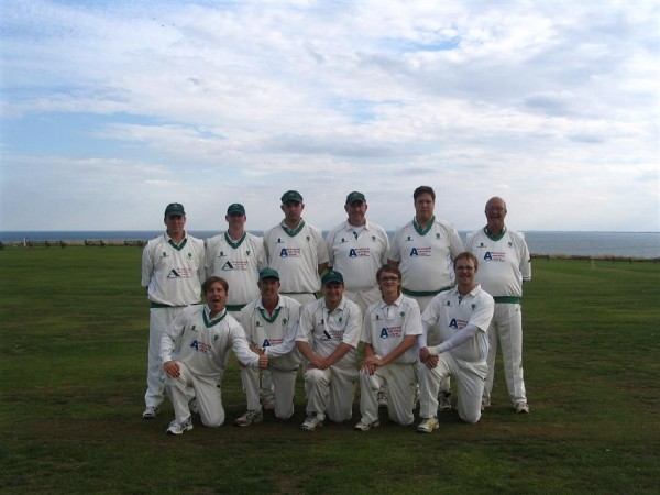 Top Row (Left to Right): Andrew Thompson, Rob Plested, Matthew Cluer, Steven Chapman (c), Daniel Nelis, Jim Linacre (snr).