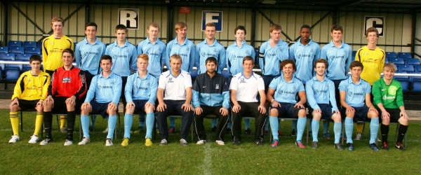 Taken before the Greenhill 1-0 win September 2012. Back row L-R: Jordan Batchelor, Kieran Griffin, Brendon Price, Edwin Owen, Jay Stoker, Chris Fortune, Mike O'Reilly, Josh O'Hanlon (Captain), Shawn Melusi, Matt Turner, Jack Gaddes. Front row L-R: Max Cunningham, George Hughes, Aaron Evans, Sam Jones, Andrew Flann (Physio), Dan Stevens (Manager), Lee Davis (Assistant Manager), Josh Randall, Tom Barker, Josh Brown, George Austin.