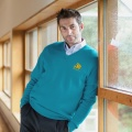 Lambswool Lagoon v-neck Jumper