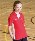 Strathspey Osprey Mini's Team Junior Red Sports Polo Shirt