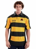 Teamwear match shirt hooped Black/Gold