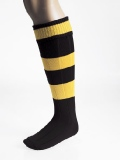 Carta Junior Contrast Hooped Socks Black/Amber (Min 5 Pairs)